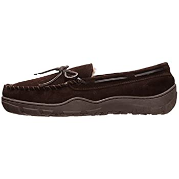 Rockport Men's Memory Foam Plush Suede Slip On Indooroutdoor Moccasin Slipper Shoe (Brown Moccasin, Size 13 Slipper) 2
