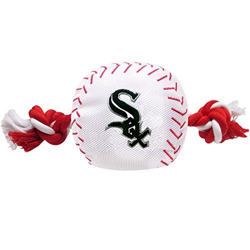 Pets First MLB Chicago White Sox Dog Nylon Baseball Rope Toy