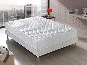 Colchón Senator Viscoelástico 140x190x20 cm. Confort de Hotel, Reversible (Invierno/Verano). Acogida con firmeza Media, 20 cm de ALTURA.
