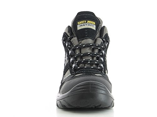 SAFETY JOGGER CLIMBER117M11 1LAW Men's Hiking Style Toe Lightweight EH PR Water Resistant Boot, 11.5'', Black/Dark Grey