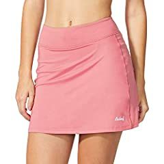 BALEAF Women's Active Athletic Skort Lightweight Skirt with Pockets for Running Tennis Golf WorkoutSPECSFabric: Body: 84%polyester/16%spandex; Mesh Lining: 95%polyester/5%spandexDesign for: Running / Golf / Tennis / Cycling / Gym / Fitness / ...