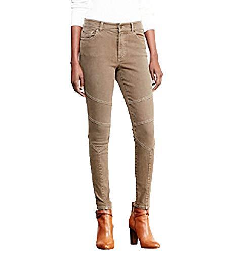 (Lauren Ralph Lauren Petite Petite Stretch Skinny Moto Jeans (Brown,)