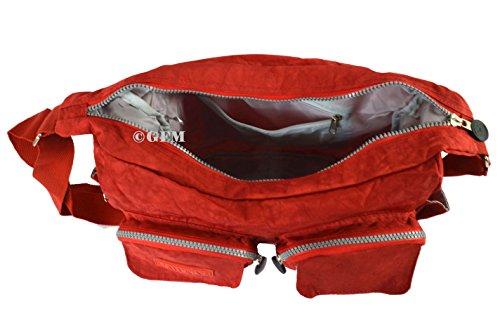 GFM tela de nailon con 3 compartimento bolsa para herramientas de Style 0 - Red