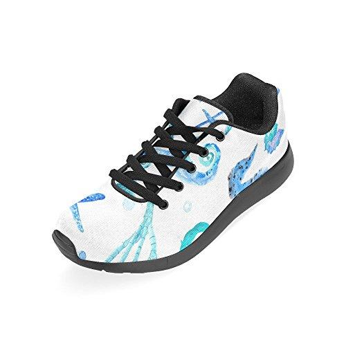 InterestPrint Womens Jogging Running Sneaker Lightweight Go Easy Walking Comfort Sports Running Shoes Multi 6 XFunVSf