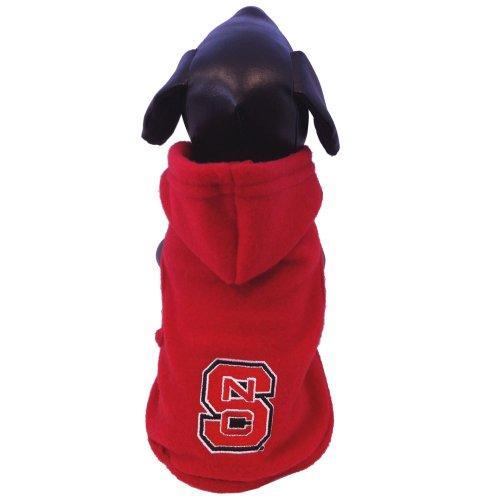 All Star Dogs NCAA North Carolina State Wolfpack Polar Fleece Hooded Dog Jacket, X-Large