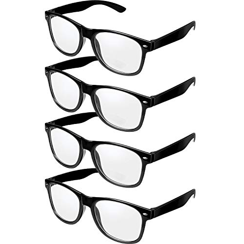4 Pairs Retro Black Frame...