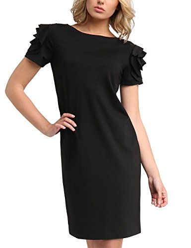 Damen Fashion Kleid APART Schwarz Schwarz YCv7gqw
