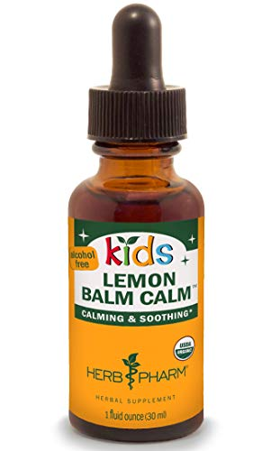 Herb Pharm Kids Certified-Organic Alcohol-Free Lemon Balm Calm Liquid Extract, 1 Ounce