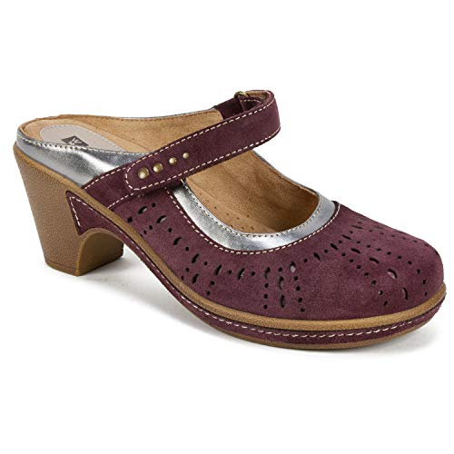 - WHITE MOUNTAIN Shoes Gull Women's Mule, Wine/Suede, 7 M