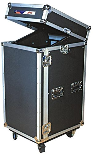 Make Dj Coffin (Portable Amp & Mixer Case - Professional Grade - For DJs and Musicians - Removable Front Door & Hinged Rear Access Door - Recessed Latches & Hinges - ATA Pro 29U By GMI Pro)