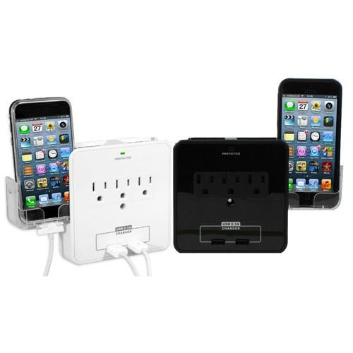 Electrical Outlet, Surge Protector, Wall USB Plate, Electrical Plug, Receptacle (Black)