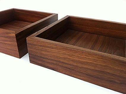 Swell Amazon Com Modern Walnut Display Box Ottoman Tray Sized Frankydiablos Diy Chair Ideas Frankydiabloscom