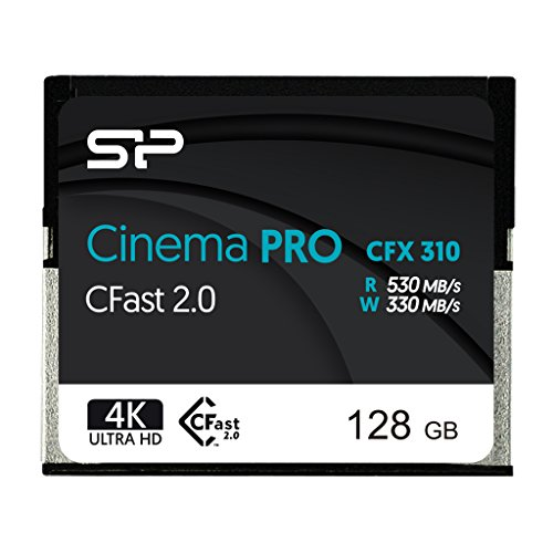 Silicon Power 128GB CFast2.0 CinemaPro CFX310 Memory Card, 3500X and up to 530MB/s Read, MLC, for Blackmagic URSA MINI, Canon XC10/1D X MARK II and more by Silicon Power