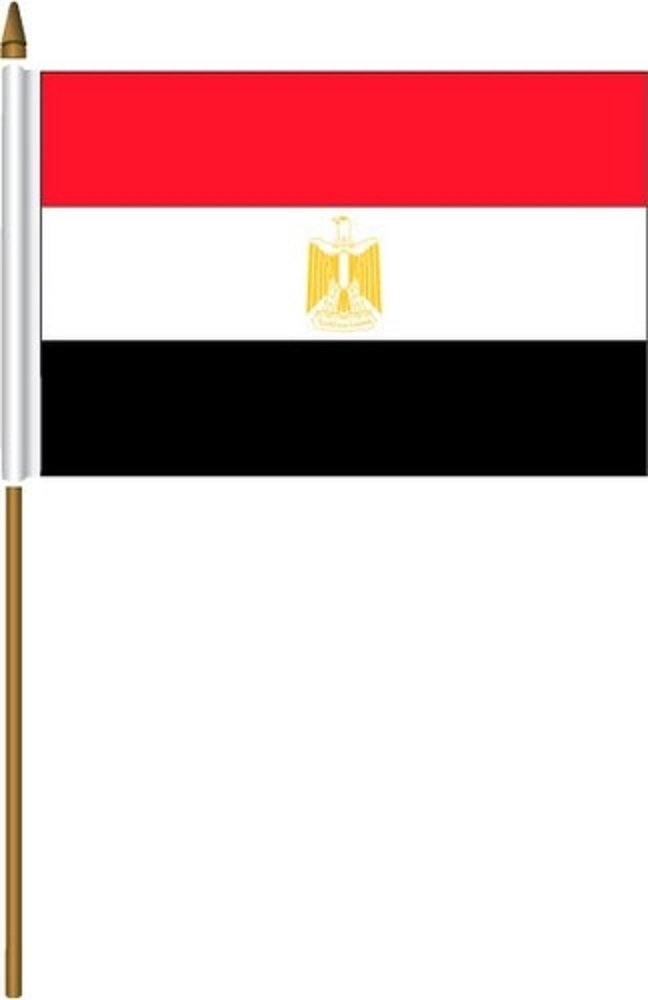 EGYPT Small 4 x 6 inch Mini Country Stick Flag, new