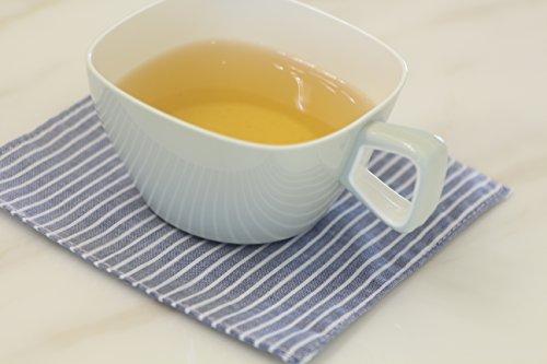 "YO JANE Stripe Fabric Coasters for drinks,5""x5""(set of 4)"
