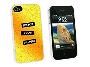 Cerhinu Graphics and More Peace Love Volleyball - Snap On Hard Protective Case for Apple iPhone 4 4S - White - Carrying...