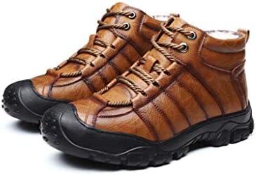 屋外の寒さとカシミア暖かいウールの雪のブーツハイトップレースのスタイルプラスベルベットブーツノンスリップ摩耗ゴム底の綿のブーツ (色 : 褐色)
