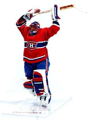 McFarlane Toys NHL Sports Picks Series 10 Action Figure Jose Theodore (Montreal Canadiens) Red (Mcfarlane Sports Picks)