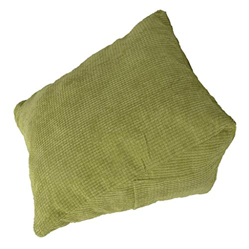 DYNWAVE Stuffed Triangle Wedge Cushion Pillow, Bolster for Bed Sofa Backrest Watching TV Reading Book Afternoon Nap, Velvet Cover, PP Cotton Fillings - Green (Best Sofa For Watching Tv)