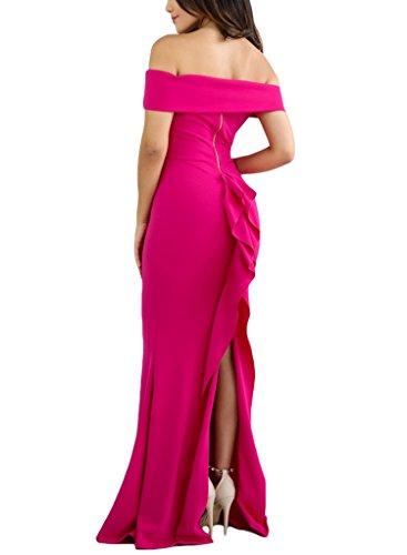 Back Slit Prom Dress - 9