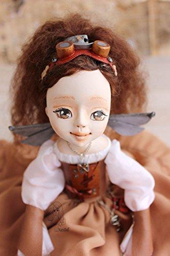 Steampunk fairy, Art clay doll, OOAK Art Doll, clay doll, Polymer clay doll, Handmade doll, Collecting doll, sculpted… 3
