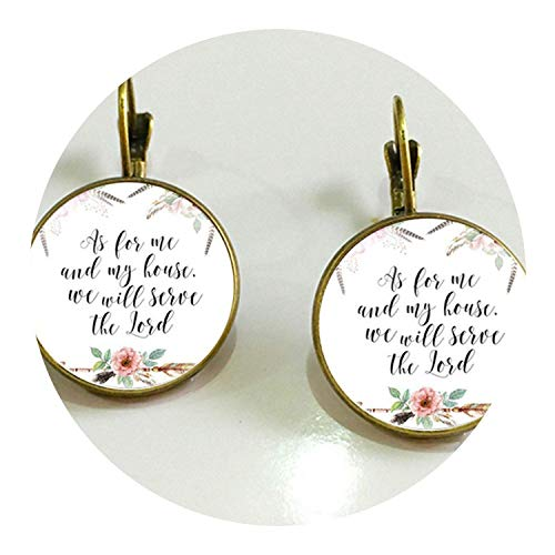 - 1 Pair of Bible Convex Glass Floral Earrings 18MM Glass Dome Art Photo Earrings Ladies Jewelry Gift,11
