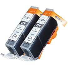 2 Pack Compatible Canon CLI 221 , CLI-221 , CLI221 2 %%color%% for use with Canon Canon PIXMA Ip3600, PIXMA Ip4600, PIXMA Ip4700, PIXMA MX860, PIXMA MX870. PIXMA Ip 3600, PIXMA Ip 4600, PIXMA Ip 4700, PIXMA MX 860, PIXMA MX 870. Ink Cartridges for inkjet printers. CLI 221GY , CLI-221 GY , CLI-221GY © Blake Printing Supply