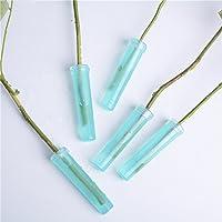 zantec 25pcs lichtdurchlässige verdes Flor tubos de agua