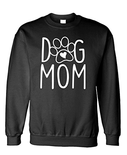 Dog MOM - Puppy pup Retriever Terrier - Fleece Sweatshirt, XL, Black (Terrier Dog Sweatshirt)