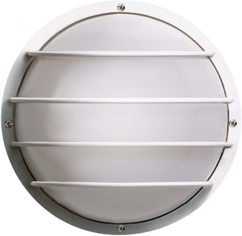 Nuvo Bulkhead Outdoor Wall (Nuvo SF77/892 Bulkhead 1-Light Round Cage Energy Star CFL, Textured Black)
