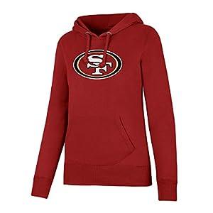 NFL San Francisco 49ers Women's OTS Fleece Hoodie, Red, X-Large