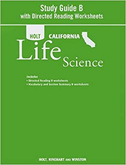 Printables Holt Science And Technology Worksheets holt science technology california study guide b with directed reading worksheets grade 7 life paperback