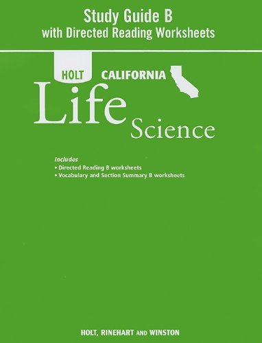 Holt Science & Technology: Study Guide B With Directed Reading Worksheets Grade 7 Life Science