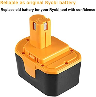 Powerextra Ryobi 14.4V 3000mAh Replacement Battery Compatible with Ryobi HP1441 HP1441M HP1441MK2 HP1442M HP1442MK2 HP7200K2 HP7200MK2 HP7200NK2 Cordless Drill-Driver RYO14.4CD-20