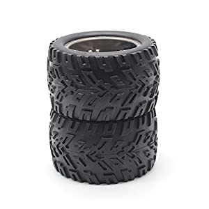 HOSIM RC Car Wheel Rubber Tires Tyres 16-ZJ01 for 1:12 Scale Hosim Off-Road RC Car 9122 9123 Pack of 2