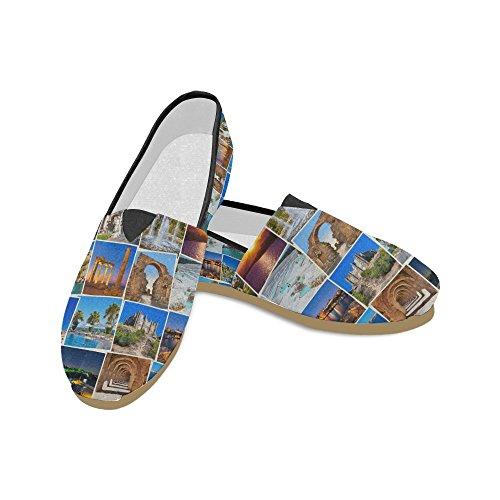 D-story Mode Sneakers Lägenheter Motorcykel Och Usa Sjunker Kvinna Klassisk Slip-on Canvas Skor Loafers Kalkon