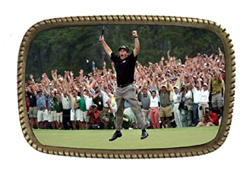 Phil Mickelson Win 2004 Masters Brass Belt Buckle Made In The USA