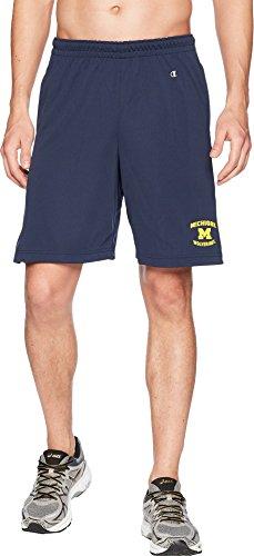 Champion College Men's Michigan Wolverines Mesh Shorts Navy Medium (Michigan Wolverines Mens Shorts)