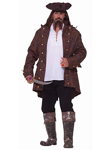 Forum Big-Tall Big Fun Pirate Captain Costume, Multi, XXX-Large -