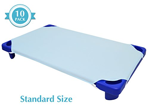 American Baby Company 10-Piece 100% Cotton Percale Standard Day Care Cot Sheet, Blue, 23 x 51