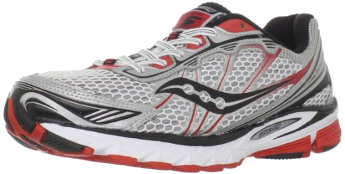 Saucony Men's Progrid Ride 5 Running Shoe,White/Silver/Re...