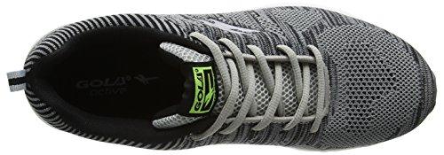 Gola Zenith, Running Homme, Gris (Grey/Black/Black), 45 EU