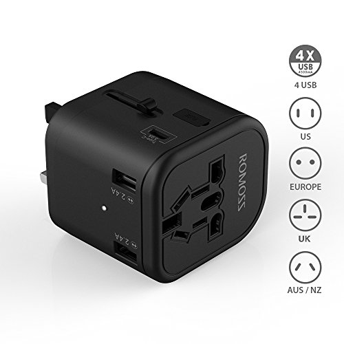 ROMOSS All in One Universal Travel Adapter US/UK/EU/AU Plugs