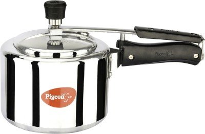 Pigeon Favourite Alluminum Pressure Cooker with Inner Lid, 3 Litres, Silver..
