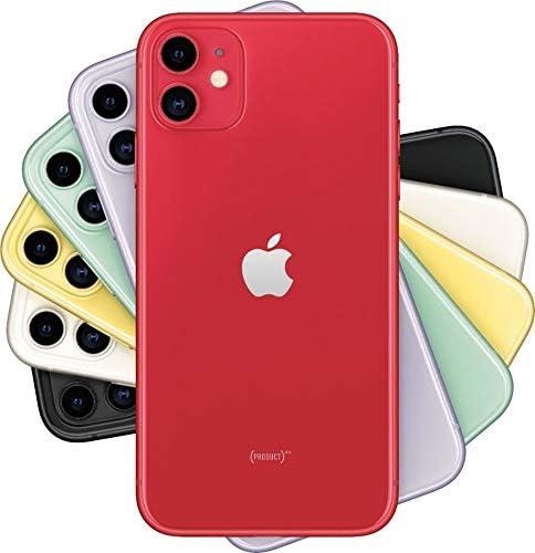 Apple iPhone 11 128GB - Unlocked - 6.1‑inch - Red (Renewed)