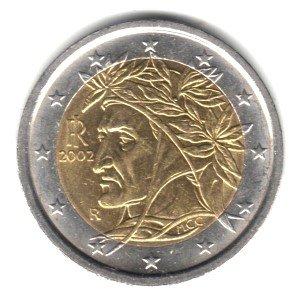 - 2002 Italy Bi-metallic 2 Euro Coin KM#217