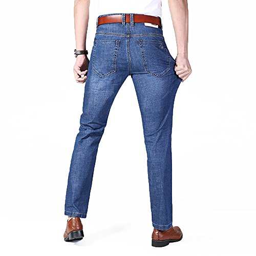 XYJD Men's Straight Barrel Jean for Business and Leisure in Summer by XYJD (Image #4)