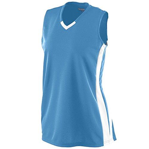 Augusta Sportswear Girls' Wicking Mesh Powerhouse Jersey L Columbia Blue/White ()