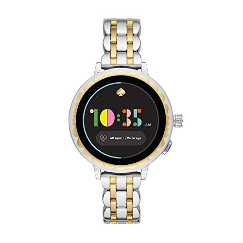 (Kate Spade New York Women's 'Scallop 2' Touchscreen Smartwatch Stainless Steel, Two tone Silver/gold (KST2012))