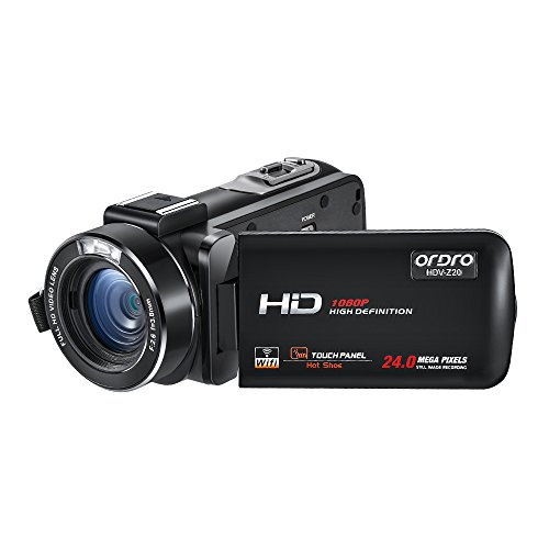 - Camcorder,ORDRO HDV-Z20 Video Camera FHD 1080P 30FPS WiFi Camera Camcorders with Hot Shoe 16X Digital Zoom 3.0'' Touchscreen DV Recorder and 2 Batteries